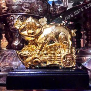 Lợn Đồng mạ vàng phong thủy - ĐPT9